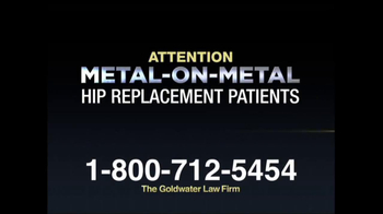 Goldwater Law Firm TV Spot, 'Hip Implants' - Thumbnail 1