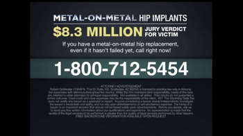 Goldwater Law Firm TV Spot, 'Hip Implants' - Thumbnail 9