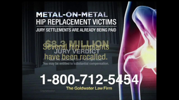 Goldwater Law Firm TV Spot, 'Hip Implants' - Thumbnail 2
