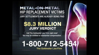 Goldwater Law Firm TV Spot, 'Hip Implants' - Thumbnail 3