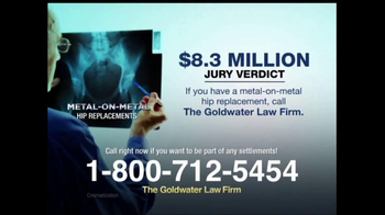Goldwater Law Firm TV Spot, 'Hip Implants' - Thumbnail 4