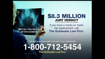 Goldwater Law Firm TV Spot, 'Hip Implants' - Thumbnail 5