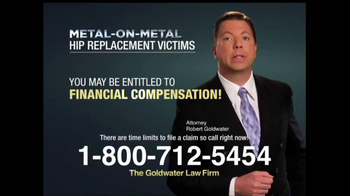 Goldwater Law Firm TV Spot, 'Hip Implants' - Thumbnail 6