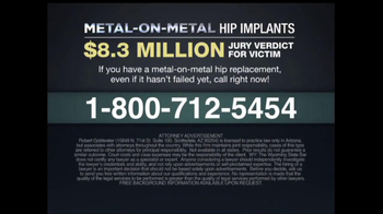 Goldwater Law Firm TV Spot, 'Hip Implants' - Thumbnail 7