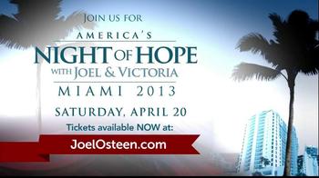 Joel Osteen TV Spot, 'America's Night of Hope' - Thumbnail 10