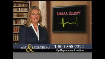 Weitz and Luxenberg TV Spot, 'Legal Alert'
