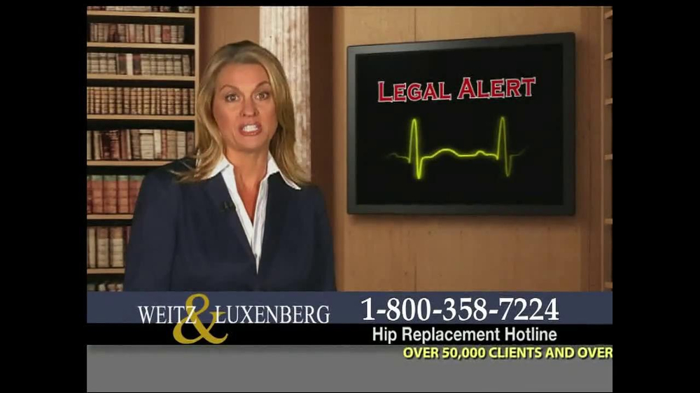 Pulaski Law Firm >> Weitz and Luxenberg TV Commercial, 'Legal Alert' - iSpot.tv