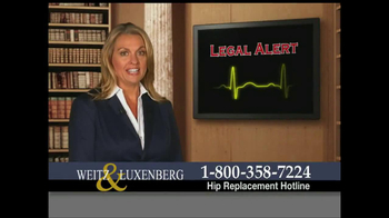 Weitz and Luxenberg TV Spot, \'Legal Alert\'