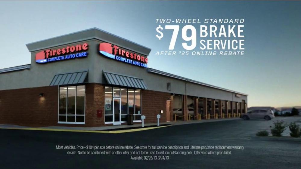 Firestone Complete Auto Care Brake Service Tv Commercial There
