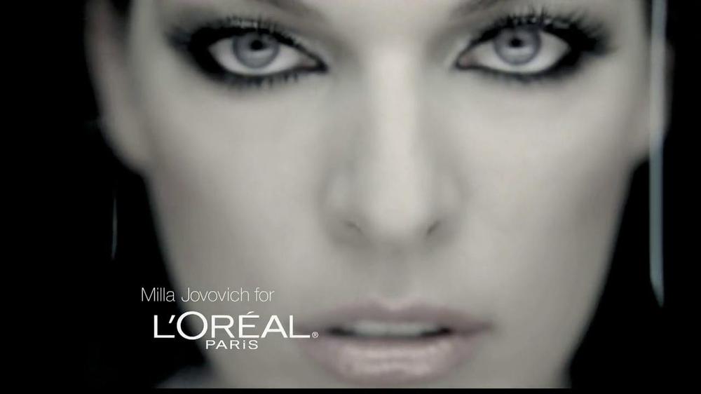 b3f5130ffa3 L'Oreal Voluminous False Fiber Lashes TV Commercial Featuring Milla  Jovovich - iSpot.tv