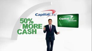 Capital One TV Spot, '50% More' Featuring Jimmy Fallon - Thumbnail 2