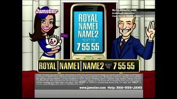 Jamster Royal Baby Name Generator TV Spot - Thumbnail 7