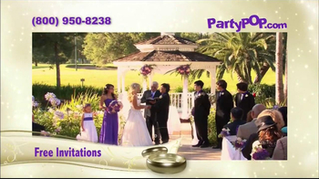 PartyPOP Wedding and Bar Mitzvah Invitations TV Spot - Thumbnail 3