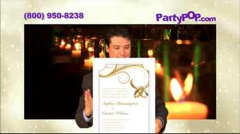 PartyPOP Wedding and Bar Mitzvah Invitations TV Spot - Thumbnail 6