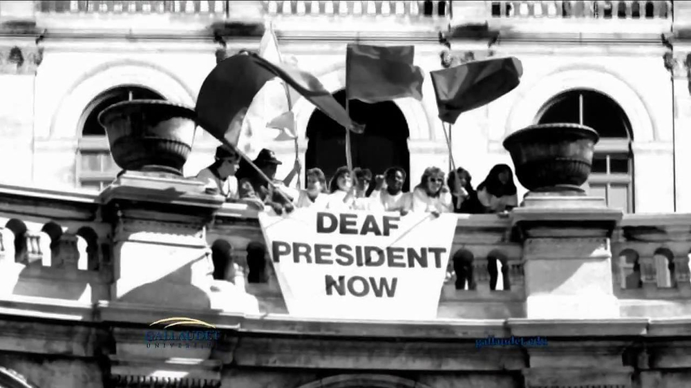 gallaudet university tv commercial   u0026 39 first deaf president