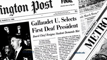 Gallaudet University TV Spot, 'First Deaf President' - Thumbnail 4