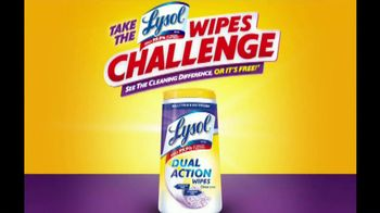 Lysol Dual Action Wipes TV Spot, 'Challenge'