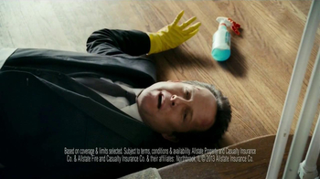 Allstate Home Insurance TV Spot, 'Mayhem: World's Worst Cleaning Lady'
