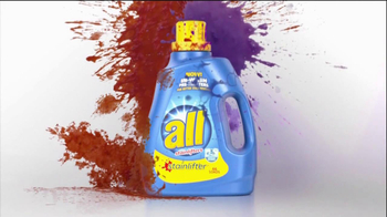 All Laundry Detergent Stainlifter In-Wash Pre-Treaters TV Spot, 'Wall' - Thumbnail 3