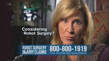 Becnel Law Firm TV Spot, 'Bad Robot Surgery' - Thumbnail 7