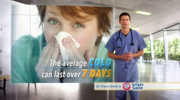 Simply Saline TV Spot, 'Average Cold' Featuring Dr. Travis Stork