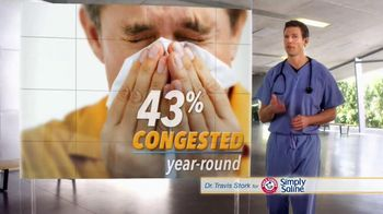 Simply Saline TV Spot, 'Year Round Congestion' Featuring Dr. Travis Stork - Thumbnail 2