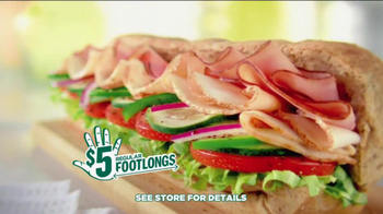 Subway $5 Regular Footlongs TV Spot  - Thumbnail 10