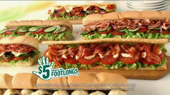 Subway $5 Regular Footlongs TV Spot  - Thumbnail 2