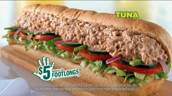 Subway $5 Regular Footlongs TV Spot  - Thumbnail 4