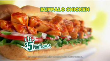 Subway $5 Regular Footlongs TV Spot  - Thumbnail 5