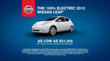 2013 Nissan Leaf TV Spot, 'Facts' - Thumbnail 8