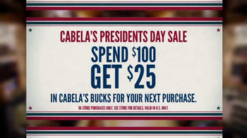Cabela's Presidents Day Sale TV Spot, 'Teddy Roosevelt' - Thumbnail 5