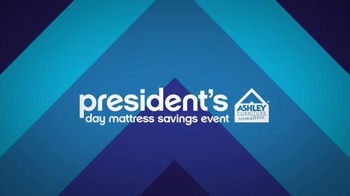 Ashley Furniture President\'s Day Mattress Savings Event TV Spot, \'Hurry In\'
