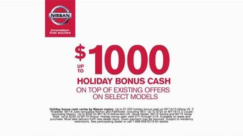 Nissan Holiday Bonus Cash TV Spot, 'More' - Thumbnail 7