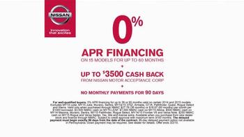 Nissan Holiday Bonus Cash TV Spot, 'More' - Thumbnail 8