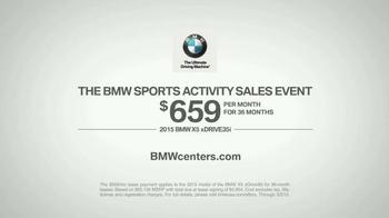 2015 BMW X5 xDRIVE35i TV Spot, 'Sports Activity Sales Event: Heads Up' - Thumbnail 10