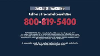 Beasley Allen Law Firm TV Spot, 'Xarelto Warning' - Thumbnail 5