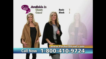 Pocket Shawl TV Spot, 'Warm and Cozy' - Thumbnail 9