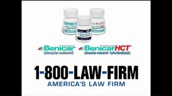 1-800-LAW-FIRM TV Spot, 'Medical Alert: Benicar' - Thumbnail 5