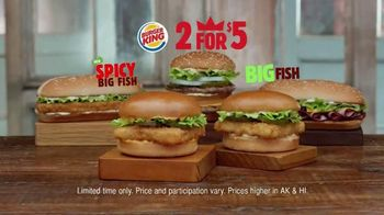 Burger King Spicy Big Fish Sandwich TV Spot, '2 for $5: Fish You Crave'