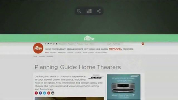HGTV Home Theaters TV Spot, 'Cinematic Experience' - Thumbnail 1