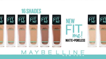 Maybelline New York Fit Me! Matte + Poreless Foundation TV Spot, 'Natural' - Thumbnail 4