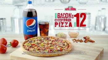 Papa John's Bacon Cheeseburger Pizza TV Spot, 'Gran Pizza' [Spanish] - Thumbnail 6