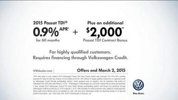 2015 Volkswagen Passat TDI Clean Diesel TV Spot, 'Question' Song by Magic! - Thumbnail 8