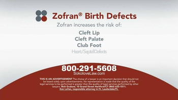 Sokolove Law TV Spot, 'Zofran Birth Defects' - Thumbnail 3