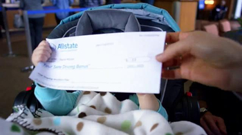 Allstate Safe Driving Bonus Check TV Spot, 'Baby Deposit and Teens' - Thumbnail 4
