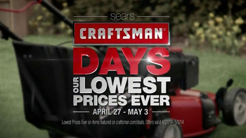Sears TV Spot, 'Craftsman Days'