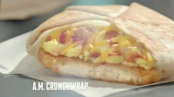Taco Bell A.M. Crunchwrap TV Spot, 'One-Handed Breakfast' - Thumbnail 9