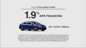 Toyota Time Sales Event TV Spot, '1.9% APR Financing' - Thumbnail 7