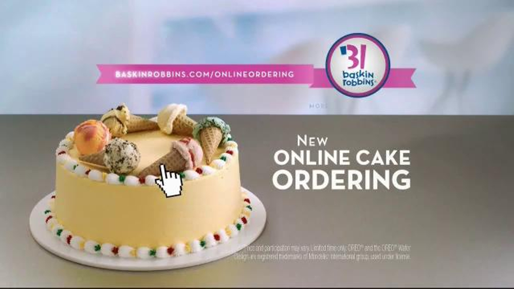 BaskinRobbins TV Commercial Online Cake Ordering iSpottv